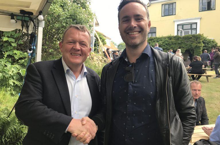 Prime Minister Lars Løkke Rasmussen and Martin Ferro-Thomssen, Conferize