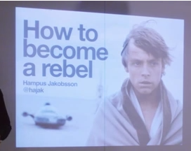 Hampus Jakobsson - how to become a rebel #creativemornings